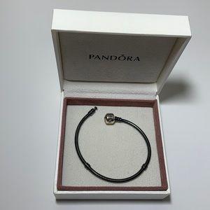 "Pandora Oxidized Bracelet 925 ALE Snake Chain 7"""
